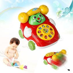 Baby Toys Cartoon 2 in 1 Car Phone Kids Educational Developm