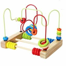 Baby Toys Classic Wooden Bead Maze Child Beads Educational H