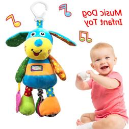 Baby Toys for 3 6 to 12 Months - Soft Music Hanging Squeaky