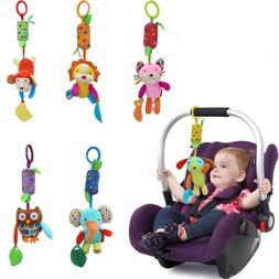 Baby Toys Hanging Crinkle Squeaky Sensory Stroller Car Seat