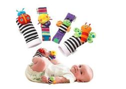 Baby Toys Wrist Rattles and Foot Finders Multicolor