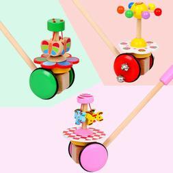 baby walk single rod spiral trolley toy