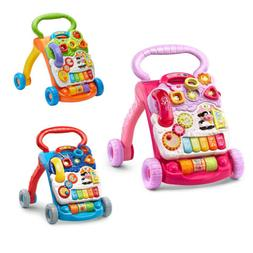 VTech Sit-to-Stand Learning Walker 3y Pink toys for baby girl and boy 9 month