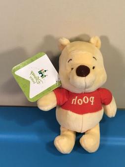 "Disney Baby Winnie the Pooh Rattle Plush 6"" Stuffed Animal K"