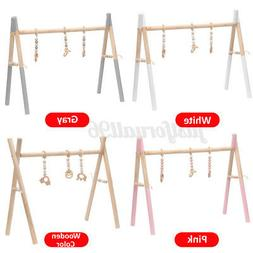 Baby Wooden Play Stand Nursery Fun Hanging Toys Mobile Wood