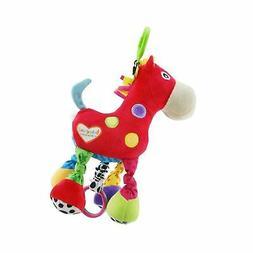 Baby Stroller Hanging Toy, Plush Pull Bell Sensory Car Seat