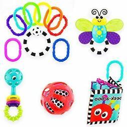 Sassy Baby's First Developmental Toy Gift Set 0+ Month, 5p