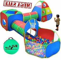 5pc Kids Ball Pit Tents and Tunnels, Toddler Jungle Gym Play