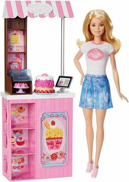 barbie bakery owner doll playset