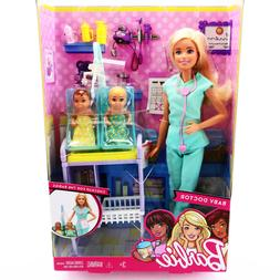 Barbie Pediatrician Doll Baby Doctor 2 Baby Toddlers Playset
