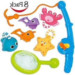 Bath Toy, Fishing Floating Squirts Toy and Water Scoop With