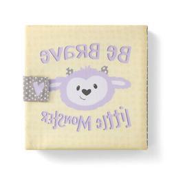 Be Brave Little Monster Yellow Dot 7 x 7 Fabric Children's B