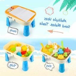 Beach Toy Set Activity Table Storage Room & Cover  for Toddl