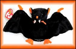 TY Beanie Babies Baby Black Orange BAT-e Halloween Stuffed A