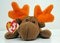 Ty Beanie Baby Chocolate The Moose 1993 Original 9 PVC Plush Toy Collection