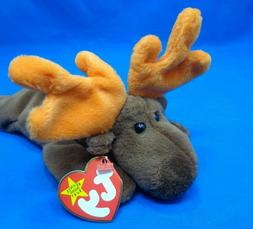 Ty Beanie Baby ~ CHOCOLATE the Moose ~1993~ Plush Beanbag To
