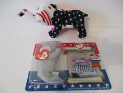 beanie baby toys set of republican patriotic