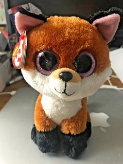 Ty Beanie Boos 6-Inch Slick Brown Fox Plush Beanie Baby Plus