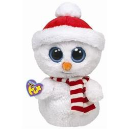 TY BEANIE BOOS BUDDY SIZE - SCOOPS the SNOWMAN - MINT TAGS 1