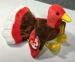 TY Beanie Baby - GOBBLES the Turkey 4034  - MWMTs Stuffed An
