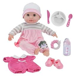 """JC Toys Berenguer Boutique 15"""" Soft Body Baby Doll - Pink 10"""