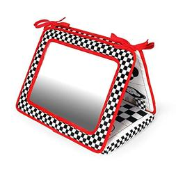Black, White and Red 2-in-1 Smile Baby Crib and Floor Mirror