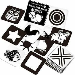 Black and White Flash Card for Baby 24 Cards 48 Pages 5.4''