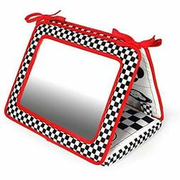 """Black, White Mirrors """" Red, Smile, Baby 2-in-1 Crib Floor To"""