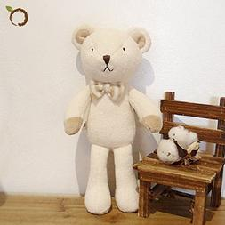 Blessnature] 100% Organic Stuffed Animal, Baby Doll, Tri-Col