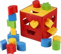 Baby Blocks Shape Sorter Toy - Childrens Blocks Includes 18