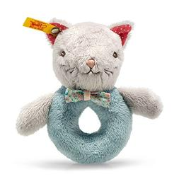Steiff Blossom Babies Cat Grip Toy with Rattle
