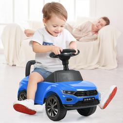 Blue Riding Toy Baby Toddler Kids Ride On Push Car Foot To F