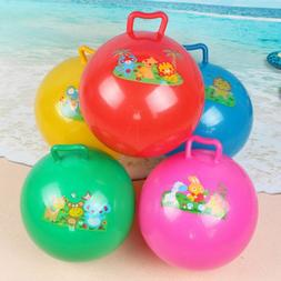Bouncing Ball With Handle Massage Inflatable Baby Play Toys