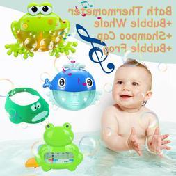 Bubble Machine Frog Automatic Spout Bubble Maker Blower Musi