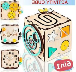 Busy Cube for Toddlers - Activity Cube for Babies - Boy and