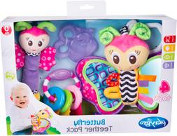 PlayGro ButterFly Teether Pack  - 4 Toys - FREE SHIPPING - A