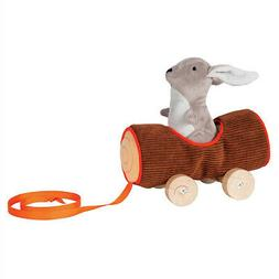 Manhattan Toy Camp Acorn Soft Log and Bunny Baby Pull Toy