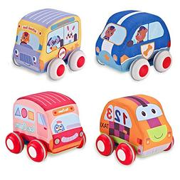 Beebeerun Car Toys Gifts for Toddlers, Kids Pull-Back Vehicl