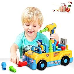 HOMOFY Baby Car Toys ToddlersTruck Tools Toys Multifunctiona