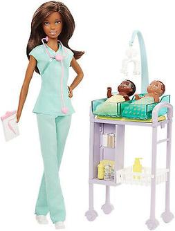 Barbie Careers Baby Doctor Doll Playset, Brunette Kid Toy Gi