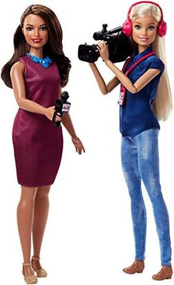 Barbie Careers TV News Team Dolls, 2 Pack