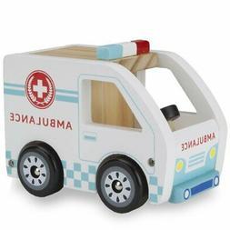 Cars Wooden, Wooden Wheels Natural Beech Wood Ambulance Wood