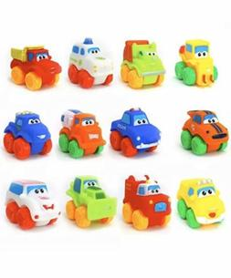 Big Mo's Toys Baby Cars - Soft Rubber Toy Vehicles for Babie