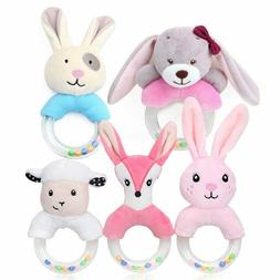 Cartoon Baby Rattle Toys Hand Bells Plush Soft Toys Newborn