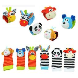 Cartoon Baby Toys 0-12 Months Sock Soft Animal Rattles Infan