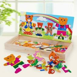 cartoon bear dressing early learning toy puzzle