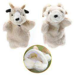 Cartoon Sheep Hand Finger Puppets Glove Plush Doll Baby Deve