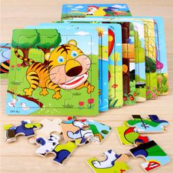 Cartoon Kids Educational Toys Baby Wooden Learning Geometry