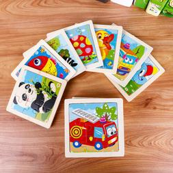 Cartoon Kids Educational Toys Wooden Puzzle Development Baby