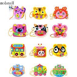 Cartoon-Kids EVA FoamToy Boys Girls Diy Handmade Handbag Acc